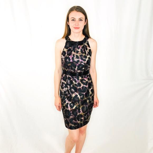 Carmen Marc Valvo Dresses & Skirts - CARMEN MARC VALVO Animal Print Sparkle Dress 0085